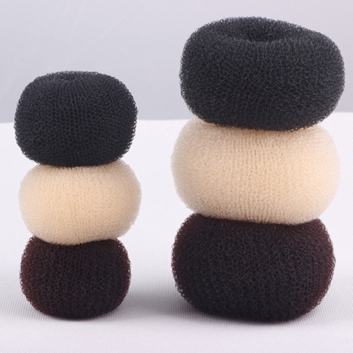 3Pcs Coffee Womens Magic Blonde Donut Hair Ring Bun Former Shaper Hair Styler Maker Tool ...