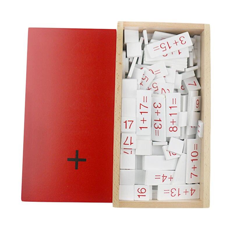 Montessori matériaux Montessori jouets Addition équations et sommes boîte Montessori mathématiques matériaux apprentissage jouets pour enfants C646Z