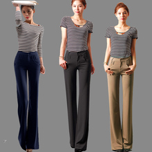 2016 autumn and winter fashion Casual plus size loose female women wide leg clothes trousers pants
