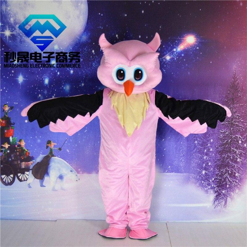 2017 nouveau Costume de mascotte aigle rose taille adulte taille hibou rose costume boutique haut de gamme