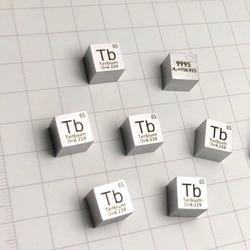 Ziem rzadkich terbu metal 99.95% Element Tb 10x10x10mm gęstość Cube czystego okresowy Element