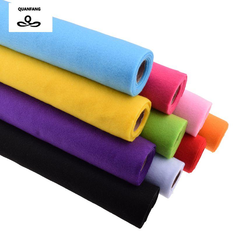 Nuevo tejido no tejido de fieltro 2 mm de espesor Poliéster Fieltro de decoración del hogar Bundle patrón para coser muñecas artesanía 45x90 cm