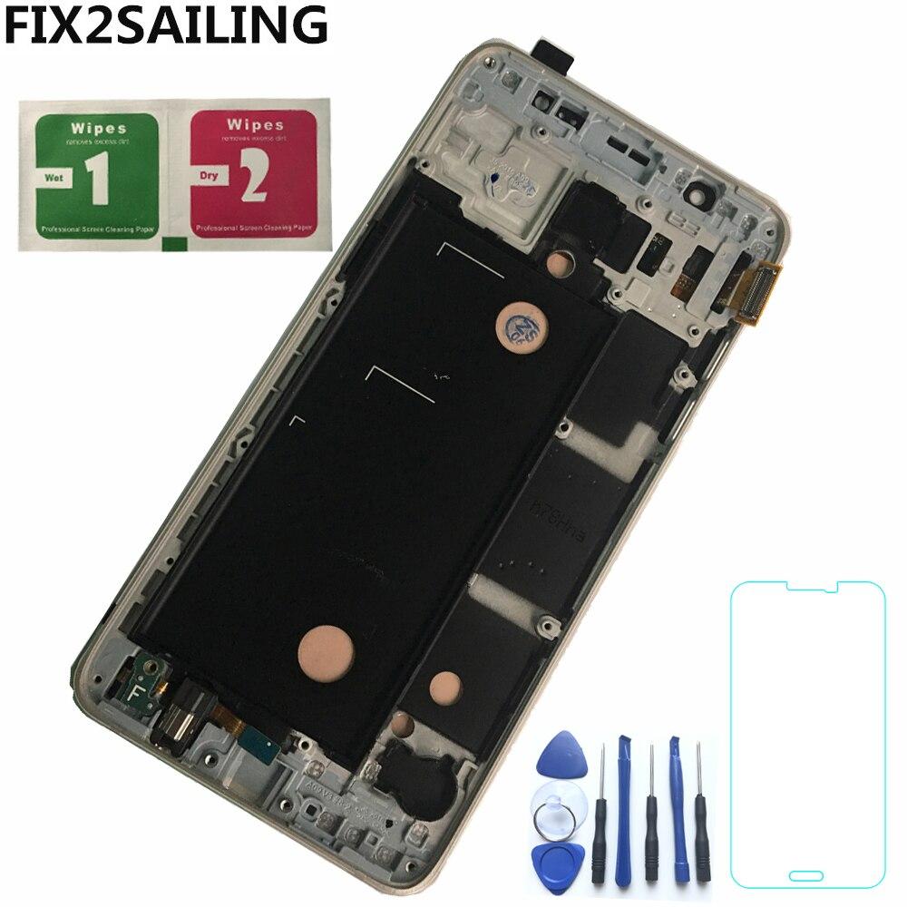 LCDs para Samsung Galaxy AMOLED J5 2016 J510 J510F J510FN J510M pantalla LCD pantalla táctil de digitalizador Control de brillo