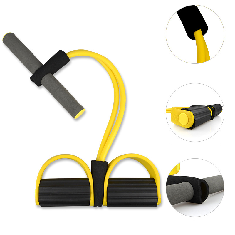 Elastic Pull Ropes Abdominal Exerciser Rower Belly Resistance Band Home Gym Sport Training Elastic Bands For Fitness Equipment 5