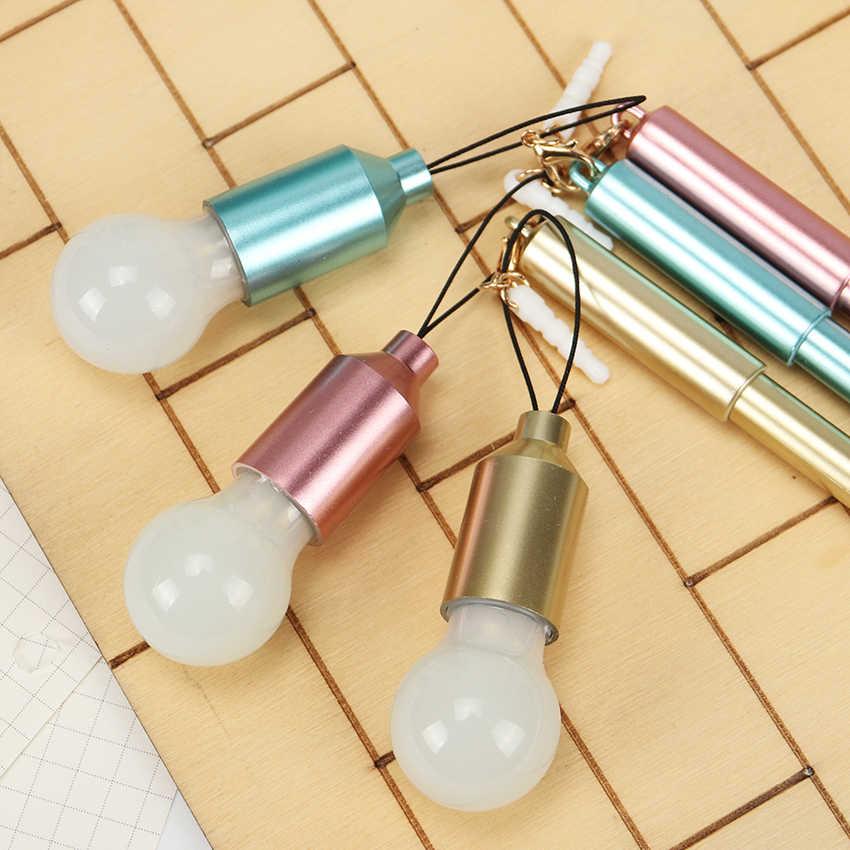 1 шт. корейский Творческое моделирование ручка с чернилами стандартных цветов светильник лампочка Пылезащитная заглушка для гелевая ручка Многофункциональный канцелярские школьные принадлежности
