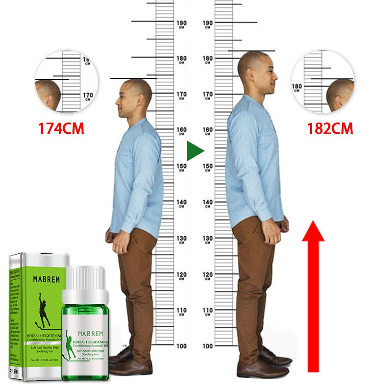 Herbal Height Increasing Essential Oil Medicine Body Grow Taller Essential Oil Soothing Foot Health Care Promote Bone Growth NEW