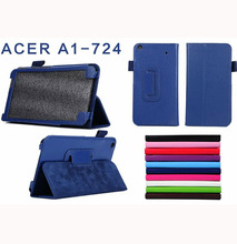ocube 2-Folder Stand Function Litchi Grain PU Protective Leather Cases Cover For Acer Iconia Talk S A1-724 A1 724 7″ Tablet