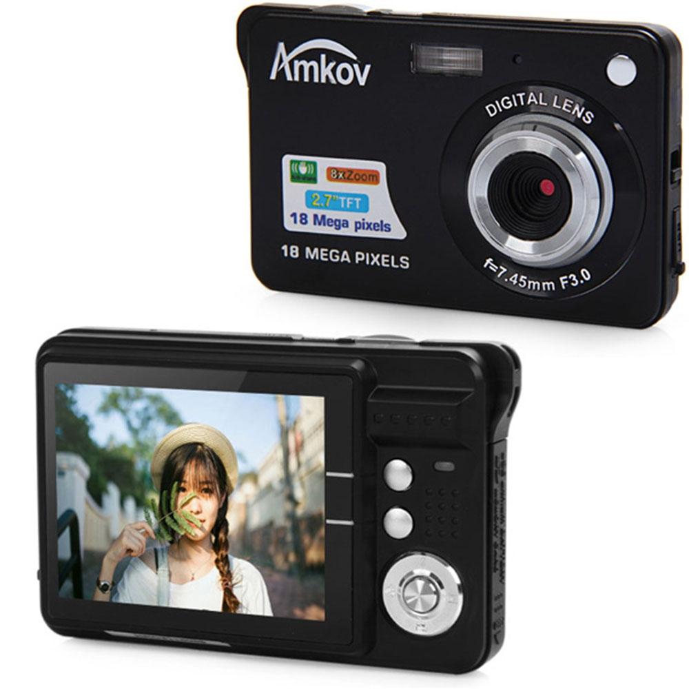 Prix pour Amkov CDC3 2.7 Pouce TFT HD Écran 18.0MP CMOS 3.0MP Anti-shake Caméra Vidéo Numérique avec Zoom Numérique 8X