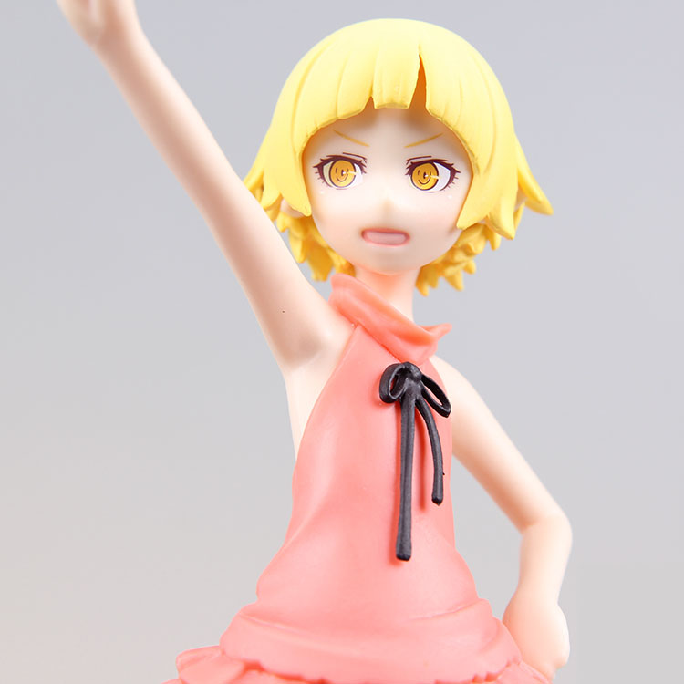 15cm Japanese original anime figure Monogatari Oshino Shinobu action figure childhood ver 10 year old collectible model toys for japanese anime one piece original megahouse mh variable action heroes complete action figure dracule mihawk