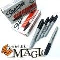 Sharpie pluma bolígrafo normal no gimmick pen-profesional de la calle de cerca truco mágico/envío libre al por mayor