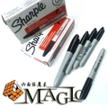 sharpie pen normal pen not gimmick pen -  professional close-up street magic trick / wholesale free shipping