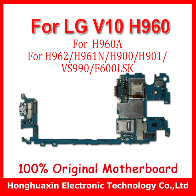 US $54 0 |32GB For LG V10 H960A H960 H962 H961 H961N H900 H901 VS990  F600LSK H968 Motherboard Original unlocked main plate install Android-in  Mobile