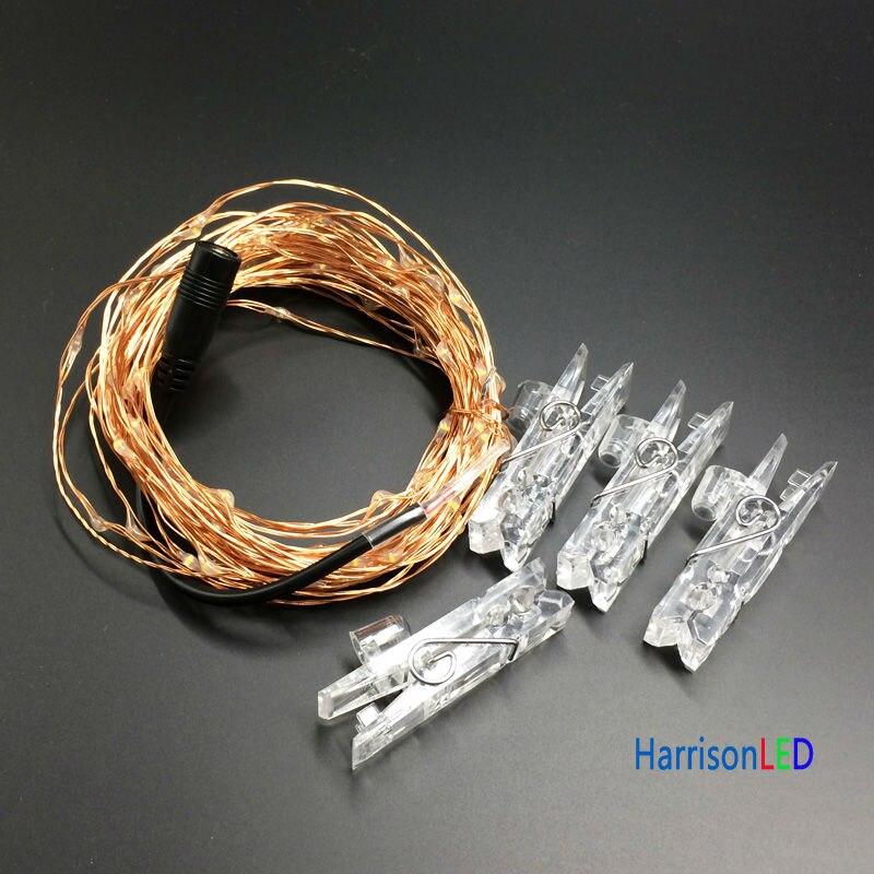 HarrisonTek10x 33ft100 СИД Мерекелік шамдар мыс - Мерекелік жарықтандыру - фото 4