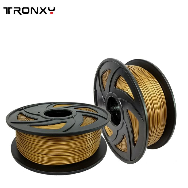 Tronxy 3d drucker filament PLA/ABS 1,75mm kunststoff Gummi Verbrauchs Material 0,25/0,5/1 kg diverse arten farben für sie wählen