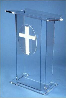 Mobilya'ten Resepsiyon Masaları'de Ücretsiz Kargo logo özelleştirmek modern ve şık % 2019 akrilik minber kilise Akrilik Podyum Kürsü Minber Lucite title=