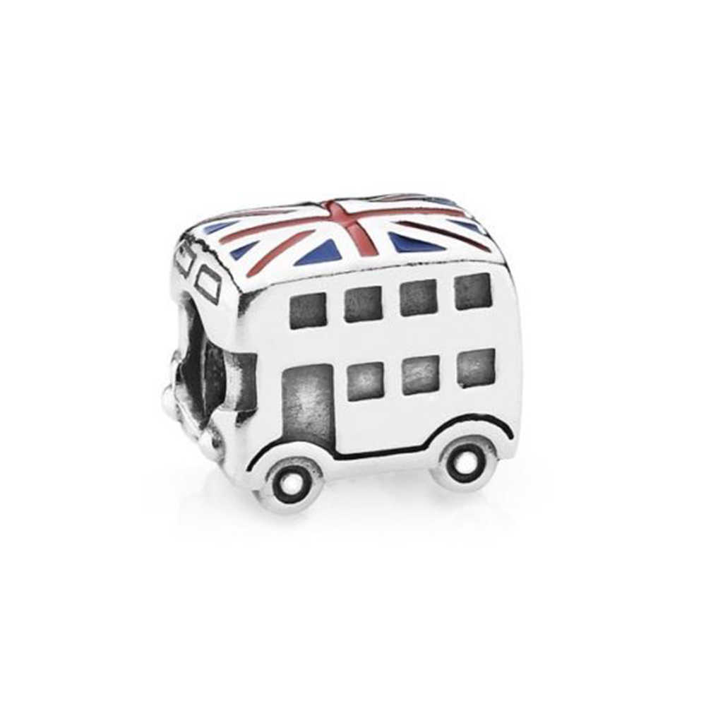 925 Sterling Silver London Bus Charm Beads Fit Original Pandora Bracelet Authentic Luxury Jewelry Gift Fast Shipping