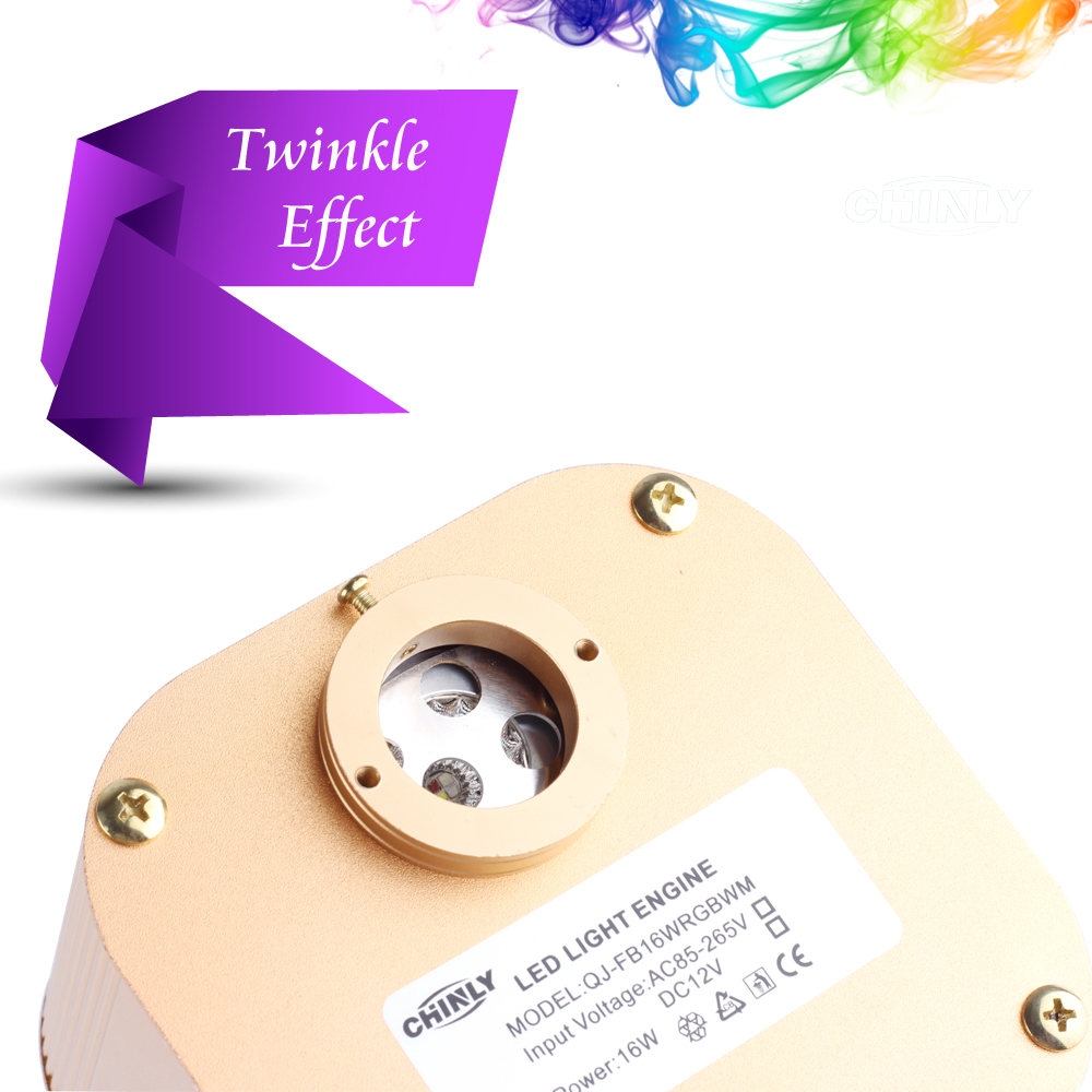 Fiber Optic Light Source Music Control Twinkle CREE Chip 16W APP/ RF control RGBW LED Engine Driver for All Fiber Optic Cable