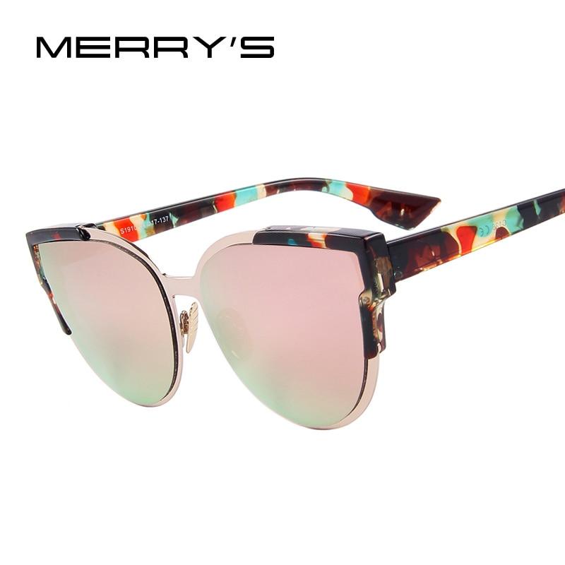 Merry's модные женские туфли Солнцезащитные очки для женщин Кот зеркало Очки металлический кошачий глаз Солнцезащитные очки для женщин Для же...