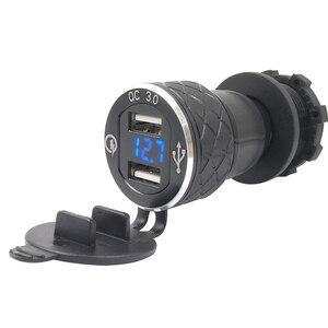 Image 5 - Nero Dual USB Caricatore Moto moto Caricabatteria Per BMW DIN Hella Moto Sigaretta Adattatore per Presa Accendisigari Con Ant polvere copertura