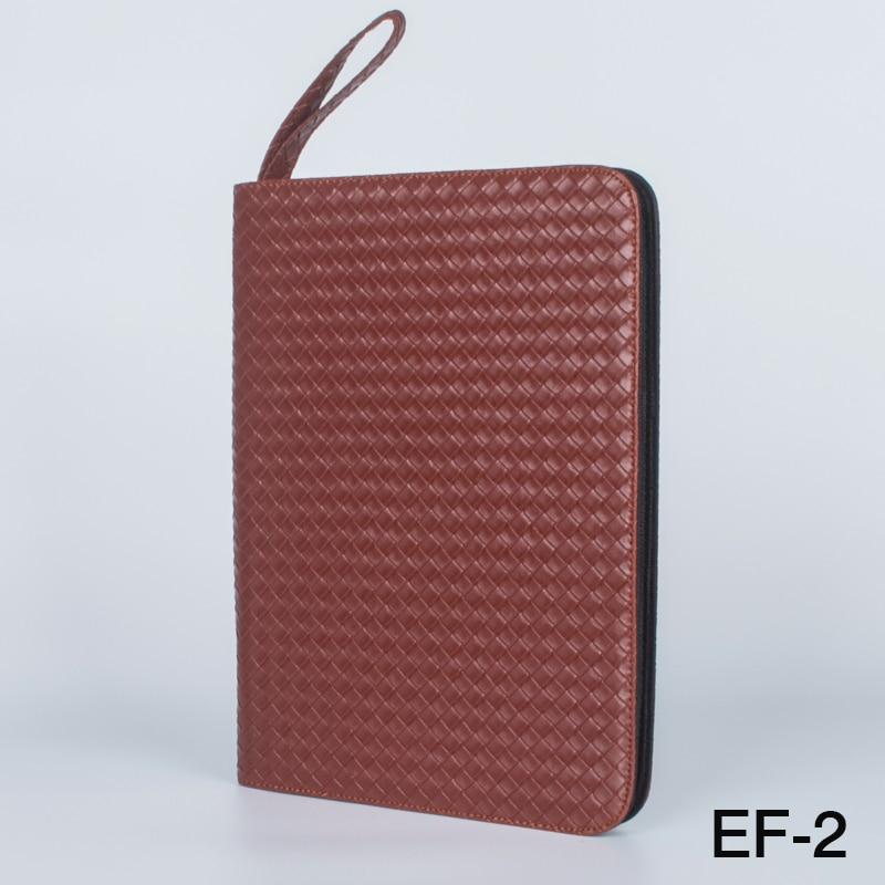 все цены на Fountain Rollerball Pen Case Holder PU Leather Case for 48 Pens - Brown braid онлайн
