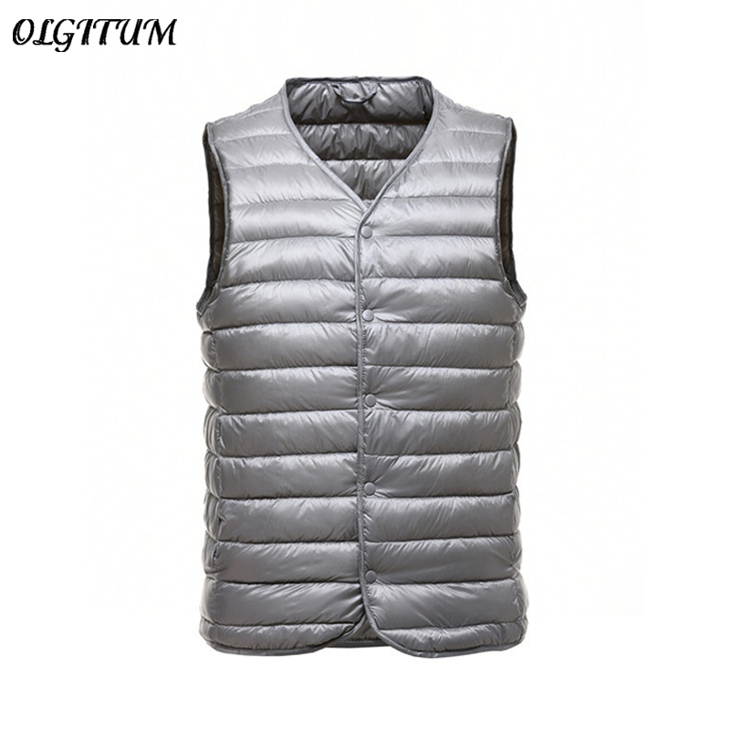 Mens Womens Winter Vest Duck Down Loose Waistcoat Slim Fit and Sleeveless Jacket