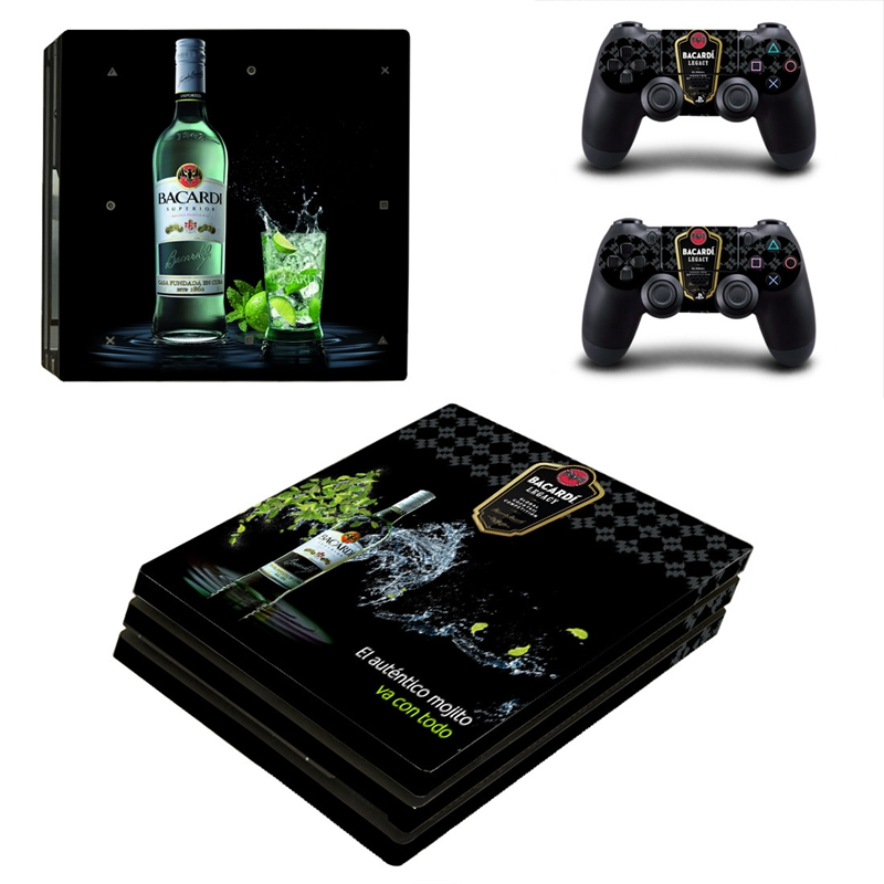 HOMEREALLY PS4 Pro Skin 4 Style BACARDI WOLF BERRY Vinly Sticker Cover For Playstaion 4 Pro Console and Controller Skin Ps4 Pro