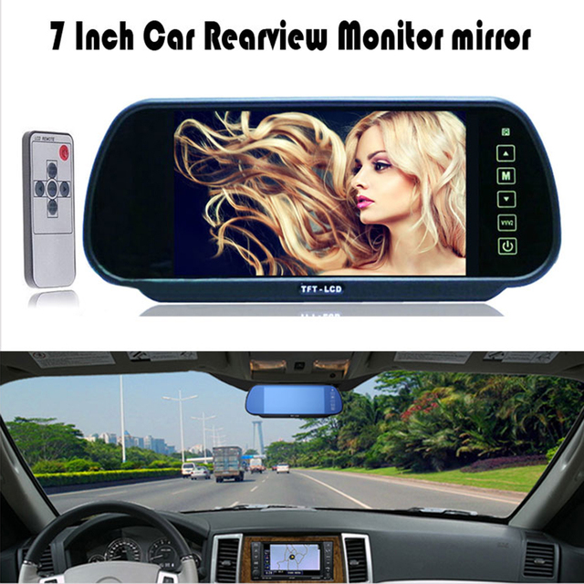 Good Selling 7 Inch Car Parking Monitor Vehicle Reversing 800x480 Rear View Backup Camera