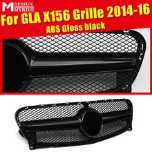 X156 grille grill GLA45 look black two fin gloss Fits For MercedesMB GLA Class GLA200D 220 GLA250 grills Without sign 2014-16