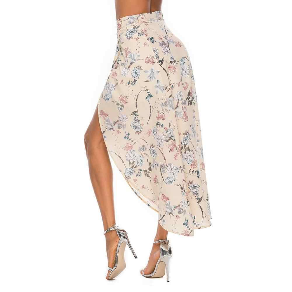 קיץ צועניות ארוך חצאית ג 'רזי Bodycon גבירותיי מקרית חצאיות נשים מקסי חצאית Saia נהיגה לראשונה חצאית Femme faldas Mujer Moda 2019 faldas CD