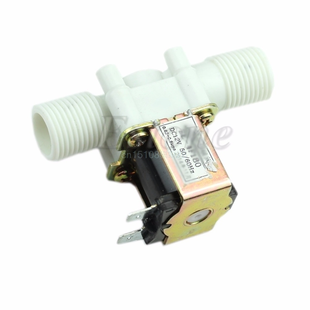 1pc New Electric Solenoid Valve Magnetic DC 12V N/C  Water Air Inlet Flow Switch 1/2""