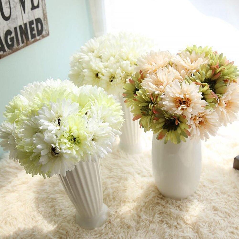 7 Heads Artificial Gerbera Daisy Arrangement Silk Wedding Flower