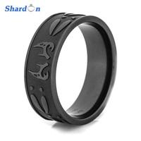 Men S Black Deer Antler Tracks Titanium Ring Outdoor Hunting Engagement Wedding Band