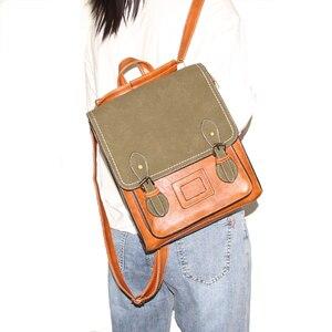 Image 5 - Vintage Pu Leather Women Backpack Preppy Style Backpacks Women Fashion School Bag College Backpack Women Shoulder Bags Mochilas