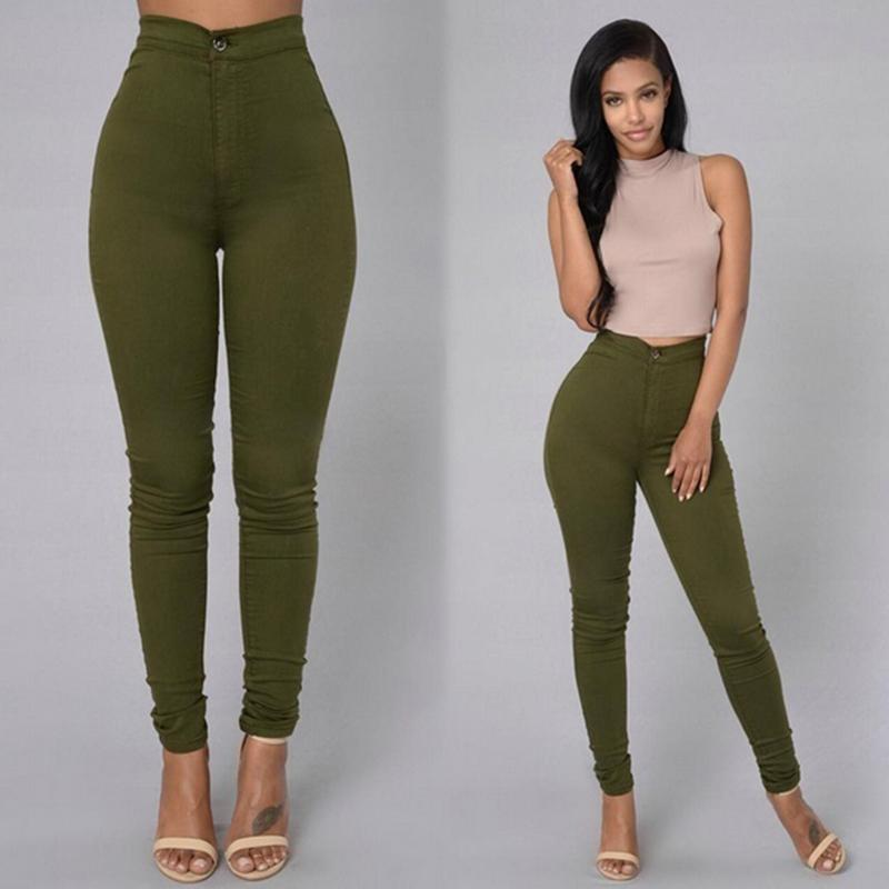 18 Solid Wash Skinny Jeans Woman High Waist winter Denim Pants Plus Size Push Up Trousers Bodycon warm Pencil Pants Female 11