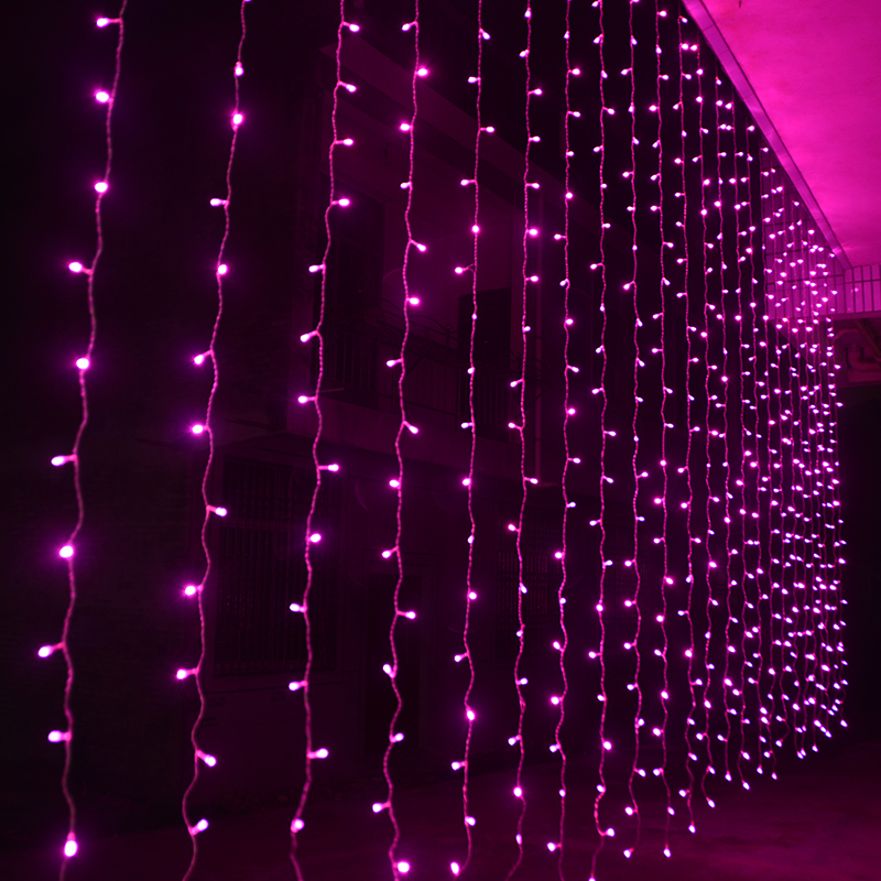 600LEDS 6 3M LED Holiday Lighting Fairy 110V 220V Colorful Curtain String light Wedding Garden Party