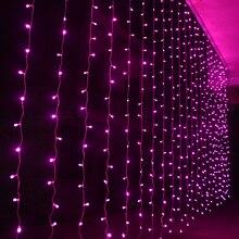 600LEDS 6 3M LED Holiday Lighting Fairy 110V 220V Colorful Curtain String light Wedding Garden Party