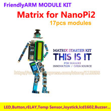Matrix Kit for NanoPI2 , including LCD1602 Keypad , Relay, buzzer , Digital compass , Ultrasonix ranger …
