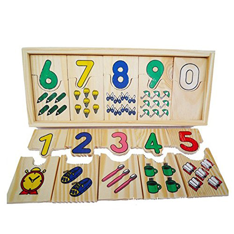 Creative Teaching Logarithmic Matching Plate Board Digital Games Gift Montessori Educational Wooden Toy For Children Math Puzzle
