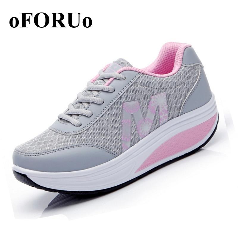 2016 vrouwen loopschoenen vrouwen sneakers Ademende Wiggen Platform Fitness Schoenen Lady Lente Summmer schoenen # 2716