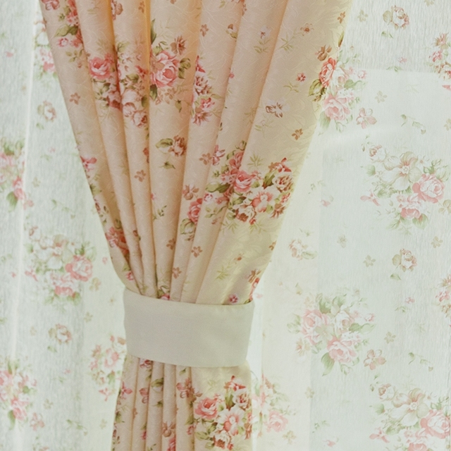 Small Floral Print Rustic Curtain Fabric Finished Product For Bedroom  Window Free Shipping