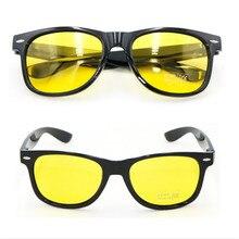 Унисекс Квадратные Желтые линзы очки ночного видения очки для вождения мужские и женские ветрозащитные очки для вождения
