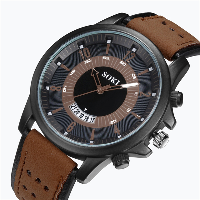 Casual Military Sport Men's Watch High Quality Quartz Analog Wristwatch 2