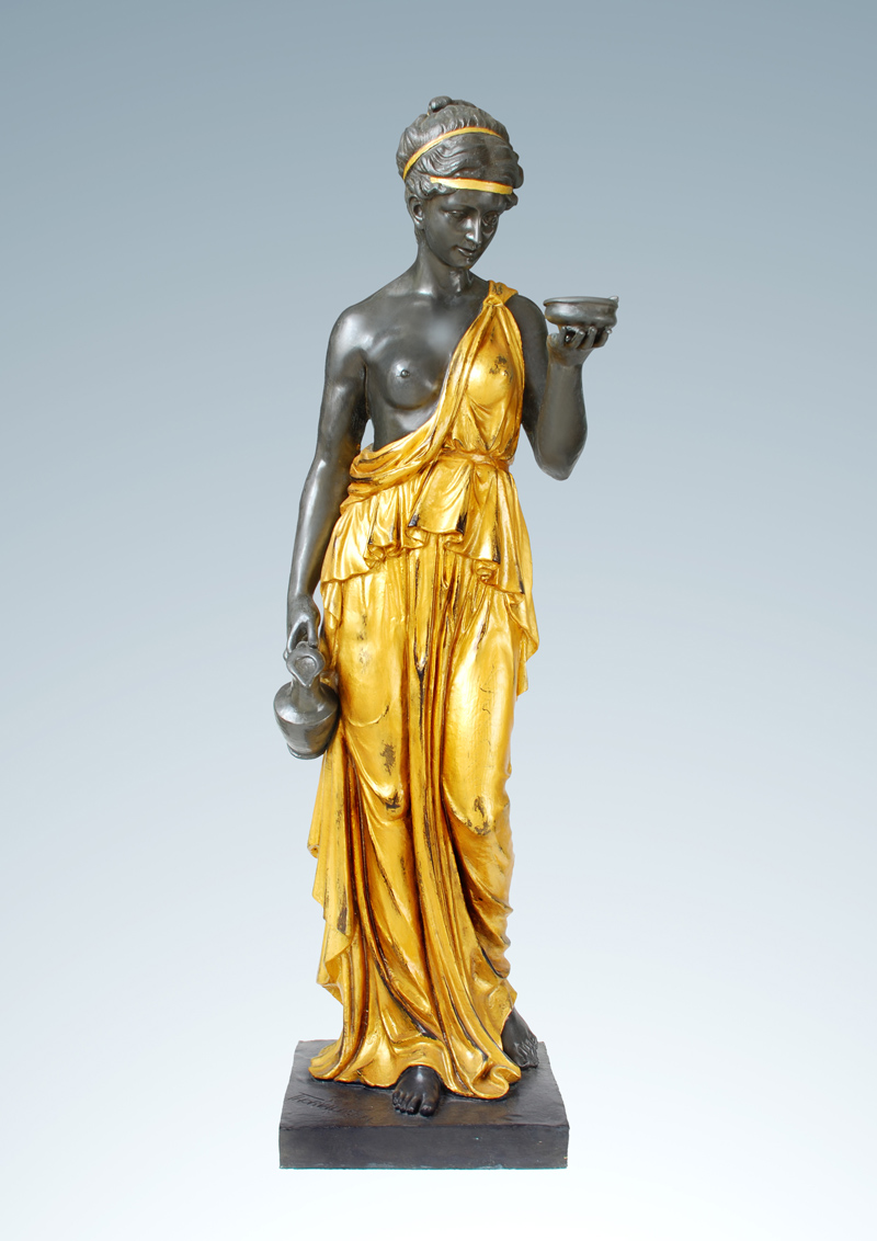 Модерна западна статуя бронзова Хебе - Декор за дома - Снимка 1