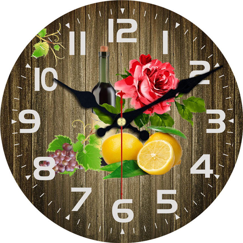 Vintage Wall Clock,Wall Watches Home Decor,Large Kitchen Clock