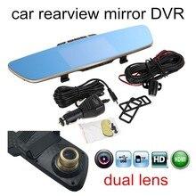 Sale best selling Black Box dual lens Video mirror DVR Full HD Original Rearview mirror camera 5 Inch Screen dashcam