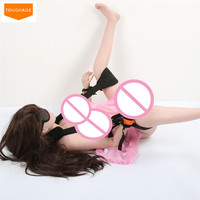 TOUGHAGE Open Leg Erotic Positioning Sexy Fetish Bandage Restraints Neck Handcuffs Sex Mask Strap,Adult Bedroom Toys for Couples