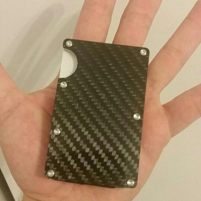 2019 new design minimalist wallet rfid blocking for men carbon fiber wallet credit card holder 4