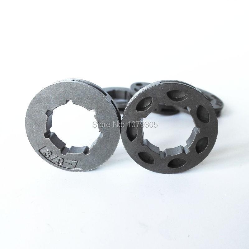 5pcs 45 52 58 Chainsaw Clutch Drum 3/8-7 Teeth Sprocket Rim