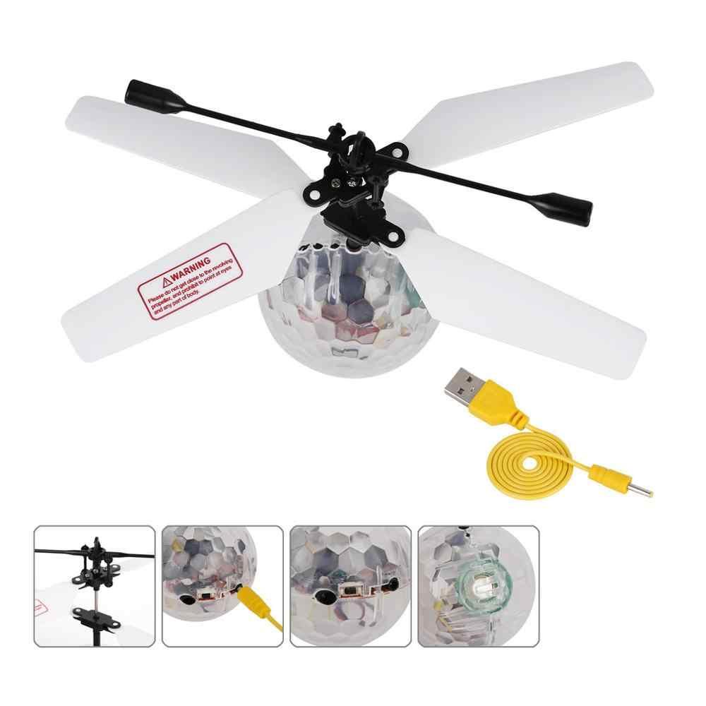 التعريفي تحلق الكرة RC الأشعة تحت الحمراء تحريض هليكوبتر الكرة المدمج في الموسيقى التسلق LED الإضاءة للأطفال سهلة للعب