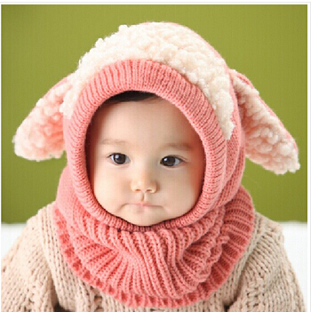 Siamese Puppy Scarf Winter New Baby Hat Wool Hat Winter Hat Hot Sale Beanie Hat Hooded Scarf Earflap Knit Cap Toddler Cute